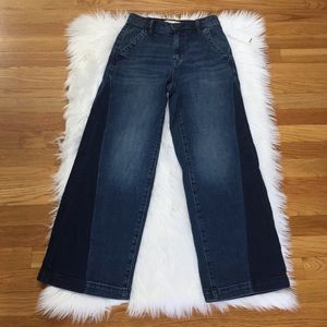 Gap Two Tone Wide Leg Flare Jeans.